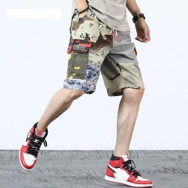 ff2ad6f714 Summer Patchwork Camouflage Military Mens Cargo Shorts Camo Hip Hop St |  JOHNKART.COM. }