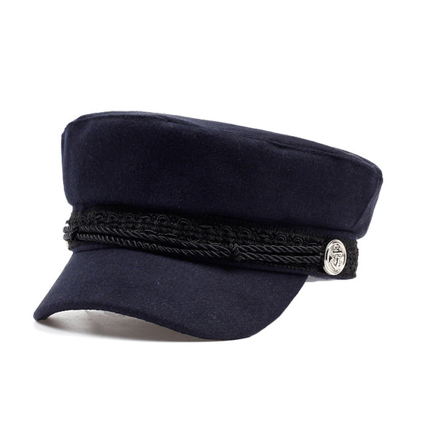 Adult cotton Boat Captain Ship Sailor Navy Cap baseball cap women fashion Flat Top Army Navy Caps