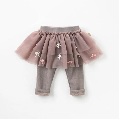 Autumn winter baby princess pants girls with ruffles pants children mesh trousers