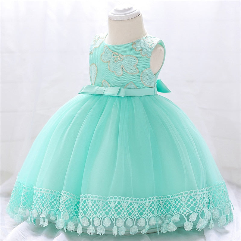 Baby Girl Dress Flower Christening Gown Newborn Baby Girls 1st Years Birthday Little Baby Tutu Dress
