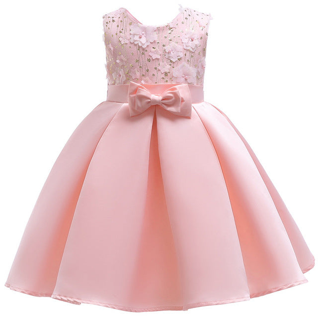 682c5b0abc386c ... Baby Girl embroidery Silk Princess Dress for Wedding party Kids Dresses  for Toddler Girl Children Fashion ...