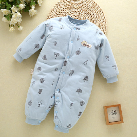 New 0-12M Baby Rompers Winter Warm Cotton Clothing Set for Boys Cartoon Bear Infant Girls Clothes Newborn Overalls Baby Jumpsuit
