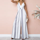 Jumpsuit Summer Women Sleeveless Print Casual Clubwear Wide Leg Holiday Long Playsuits Trouser Jumpsuit combinai #J08