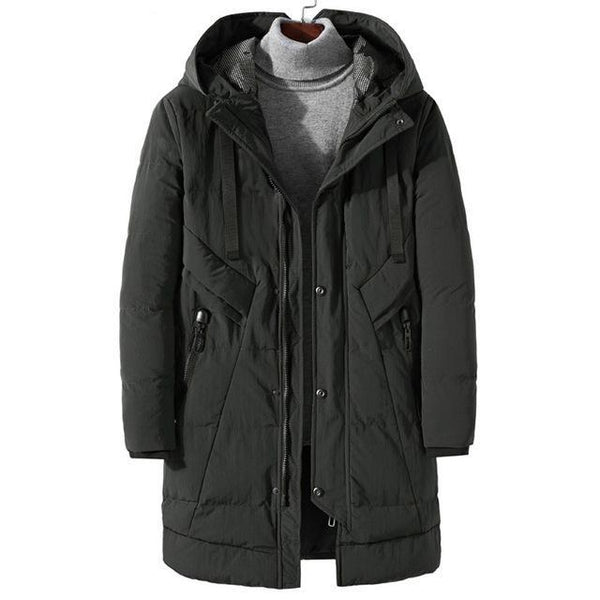 Men Winter Long Thick Parkas Jacket Outerwear Plus Size Male Fashion Casual Loose Warm Cotton Padded Coat Mens Overcoat