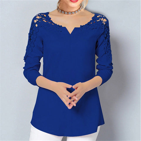 Womens Tops And Blouses Casual Long Sleeve Chiffon Blouse Office Ladies Shirts Tunic Tops Blusas Plus Size 5XL