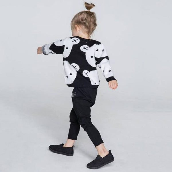 Baby Girls Sweater Winter Cartoon Children Sweaters Christmas Pullover Long Sleeve Baby boy Girl Knitwear Kids Knit Clothes