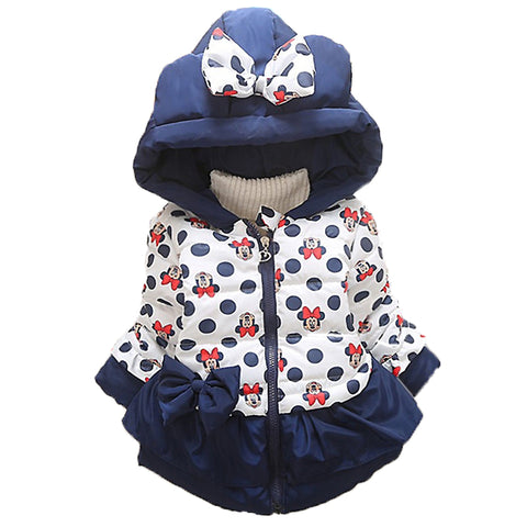 Baby Girls Boys Jackets Baby Clothing Kids Hooded Coats Winter Toddler Warm Cartoon Minnie Mickey Jacket Baby Outerwear