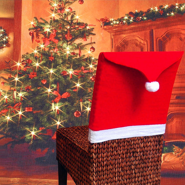 Christmas Decorations For Home Non-Woven Chair Covers Christmas Table Decoration Supplies Christmas Hats