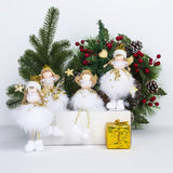 Christmas angel Doll Toy christmas Hanging ornament christmas tree Pendant kids new year Gifts Outdoor Christmas Decorations
