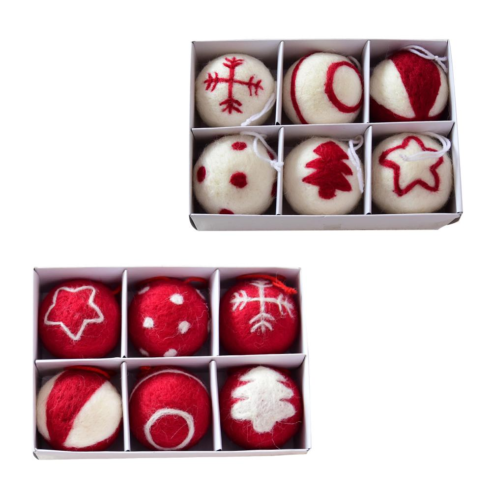 merry christmas decoration for home gift box decor plush balls diy craft supply christmas tree ornament