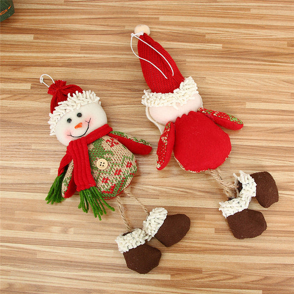 Christmas Ornaments Gift Santa Claus Snowman Reindeer Toy Doll Hang Decorations Wholesale Free Shipping 30RI27