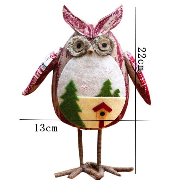 1pc owl toy christmas toys christmas decorations for home tree ornaments kids gifts large table dolls