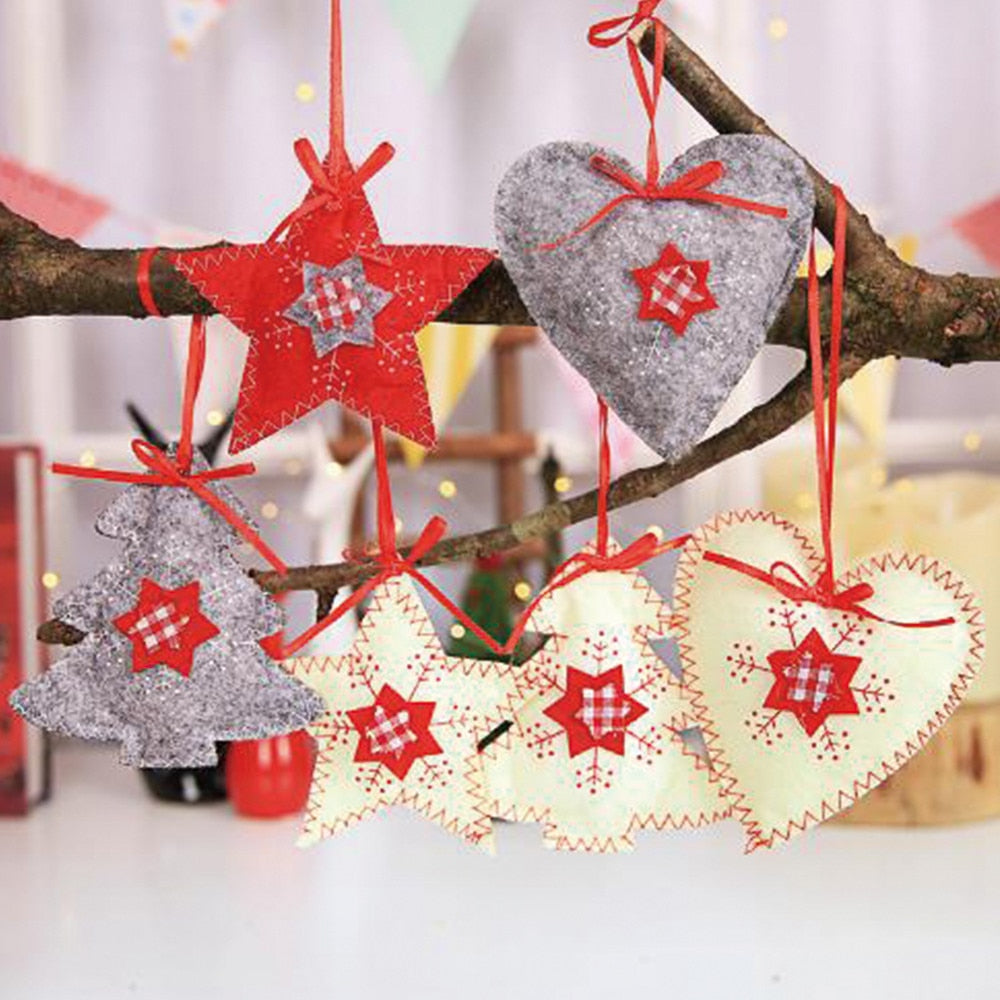 christmas tree decoration non woven sewing accessories new year decorations merry christmas decoration ornaments christmas