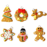 6PCS Christmas Tree Ornament Keychain Hanging Pendants XMAS Party Decor Christmas Tree Ornaments nt0