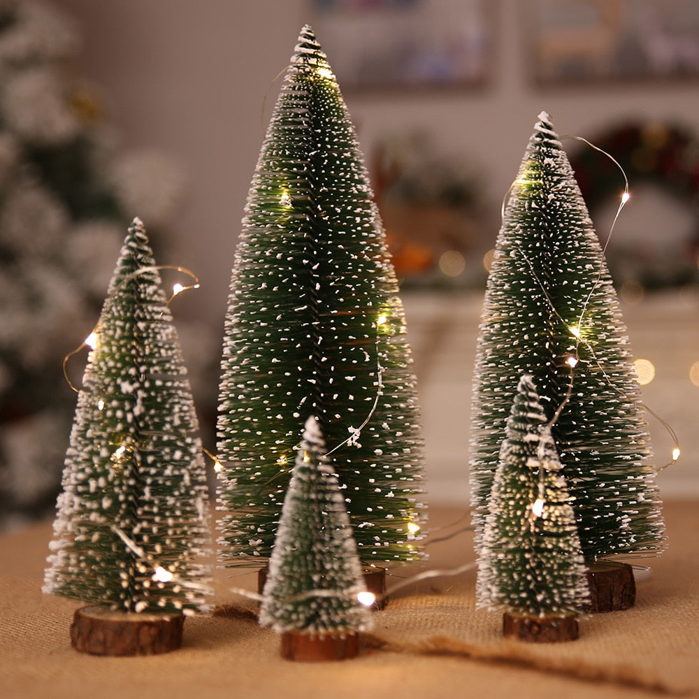 5 size christmas tree christmas decorations supplies small pine tree placed in the desktop diy decoration - Small Tree Christmas Decorations