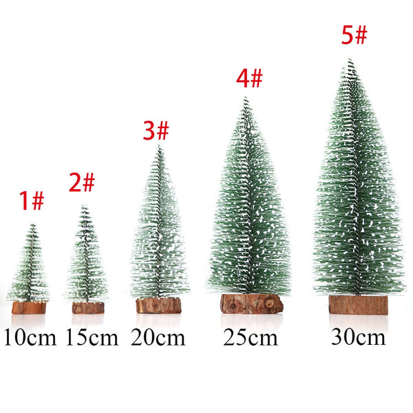5 Size Christmas Tree Christmas Decorations Supplies  Small Pine Tree Placed In The Desktop DIY Decoration Mini Christmas Tree
