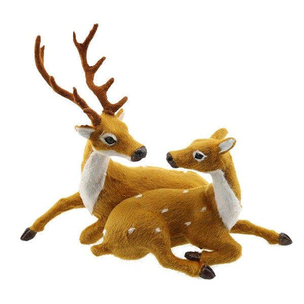 Xmas Elk Plush Simulation New Year Christmas Ornaments for Home  Christmas Gift Navidad Noel Decorations