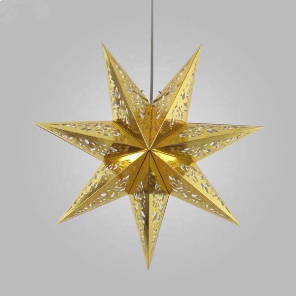 Christmas Decoration Colorful Pendant Light Creative Twinkle Star Lighting Holiday Pendant Lamp Coffee Dining Living Child Room