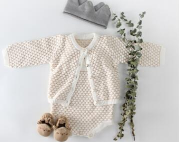 43bf9deecfc16 ... Baby Knitted Romper Autumn Winter Baby Girls Clothes Cotton Baby Girl  Romper Cardigan Newborn Baby Clothes ...