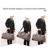 MARKROYAL Canvas Travel Bag European And American Fashion Fitness Bag With Shoe Warehouse Design Travel Portable Bag