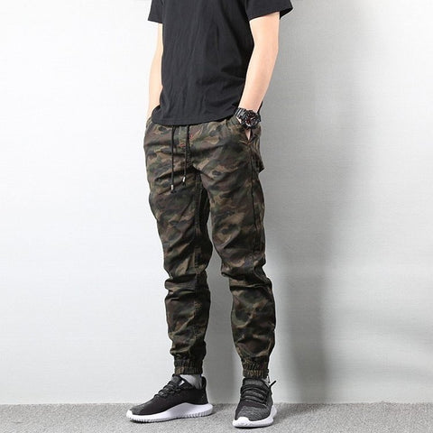 Autumn Fashion Men's Jogger Camo Pants Camouflage Cargo Pants Men Military Army Pants Homme Hip Hop US Size S-XL