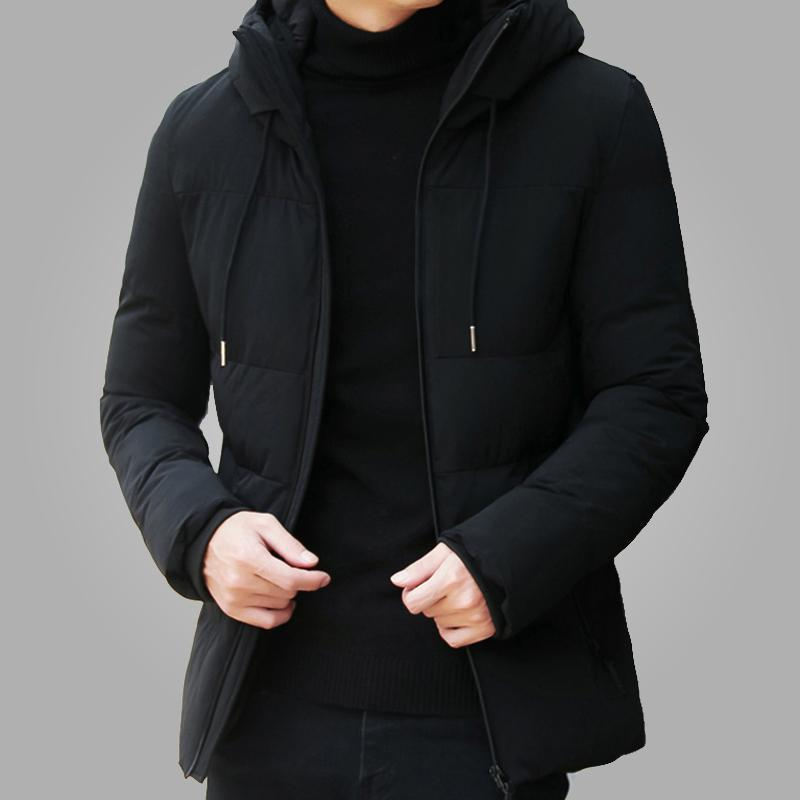 Brand Winter Jacket Men Clothes Casual Stand Collar Hooded