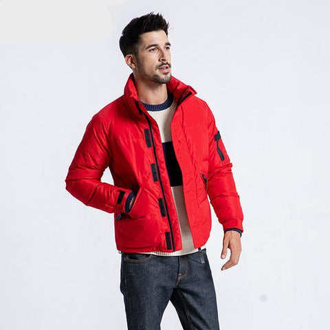 Winter Warm Down Jacket  Men Grey Down Coats Man Fashion Casual Stand collar Outwear  Plus Size 180292