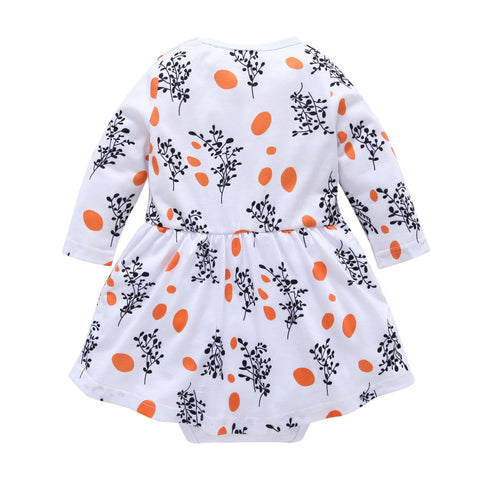 Clothes Children Baby Girls Summer Outfit 1PC Princess Party Dress kids Daily Cotton Casual Long Sleeve Clothes