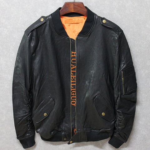 Free Shipping,man soft jacket.man classic leather coat.quality plus size casual jackets.new baseball style clothing