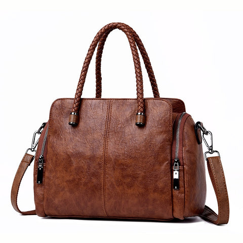 New Two side pocket Casual Tote Bag Designer Handbags High Quality Leather  Luxury Crossbody Bags For a5e9f26677ed1