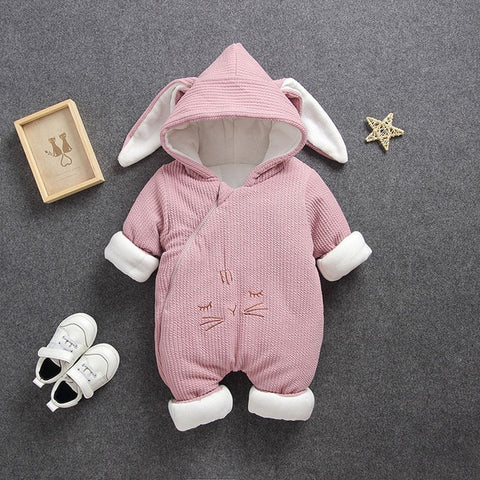 New Baby rompers Overalls  Clothes Winter Boy Girl Garment Thicken Warm Pure Cotton Outerwear coat jacket kids Snow Wear