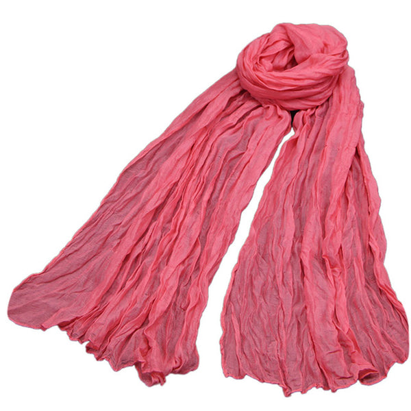 Women Solid Scarf Fashion Linen Autumn Winter Scarf Female Multipurpose Shawl Long Scarf foulard femme bufanda mujer Cheap