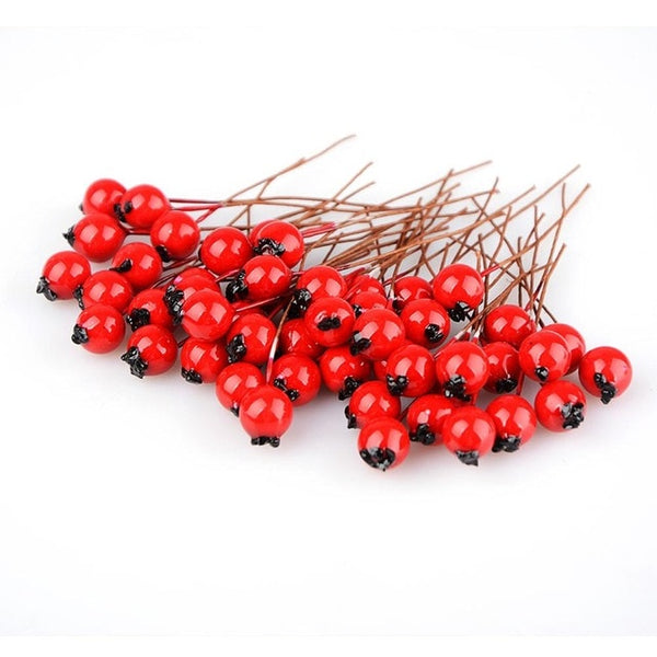 50pcs/bag BlueBerry Artificial Flowers Stamen Artificial Berries for Scrapbooking DIY home teble wreath Decoration