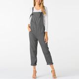 Womens Jumpsuits Female Dungarees Pockets Strapless Long Wide Leg Trouser Summer Fashion Beach Loose overalls Cami rompers 2018