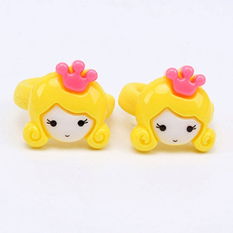 2pcs Baby Girls Princess Flower Ball Elastic Rubber Ropes Hair Clips Headdress Excellent Quality In