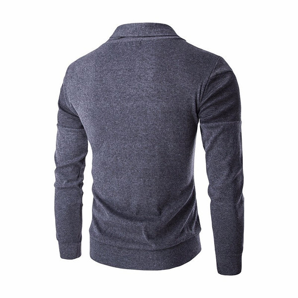 Spring Autumn men's Sweater coat Mens Fashion slim Solid color Single Breasted Cardigan male Long sleeve Knitted coat Tops