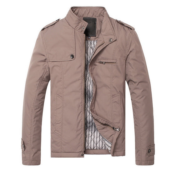 Men's Autumn Winter Jacket Men Warm Thick Cotton Coats Mens Zipper Windbreaker Male Khaki Casual Jackets