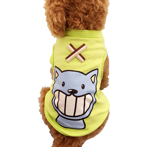 Hoomall Cotton T Shirt Apparel Dog Puppy Dog Clothes Vest T-shirt Pet Puppy Summer Vest Small Dog Dogs Clothing Apparel