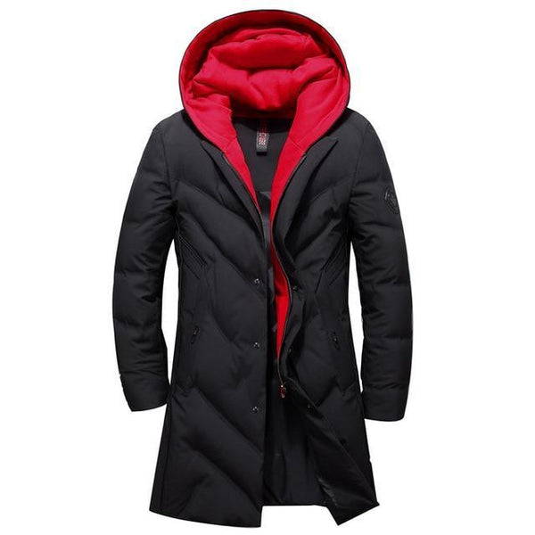 winter down jacket men's clothing high quality white duck down coats removable hat thickening goose feather parkas