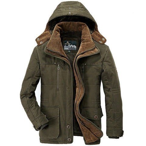 Thick Winter Parkas Men Plus Size 5XL 6XL Cotton Warm Jacket men Military Multi-Pocket Parkas Hombre Invierno