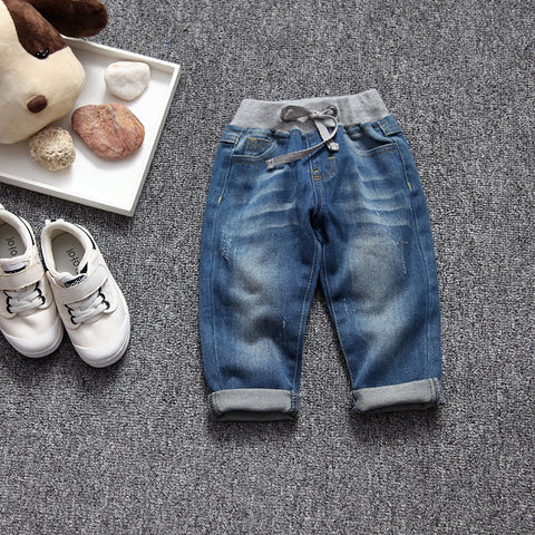 Autum Newborn Baby Jeans Boy Harem Pants Girl Soft Denim Pants Infant Bebe Trousers Toddler Leggings Baby clothing 9-36M