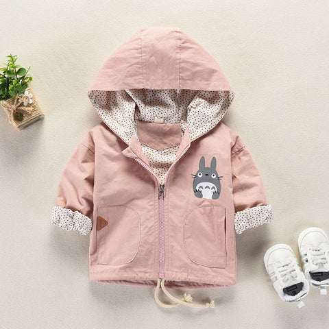 Newborn Baby Girl Spring Cotton Coats infant Outerwear Hooded Jackets for Baby Girls Cartoon Coat Children's Kids Jacket NEW