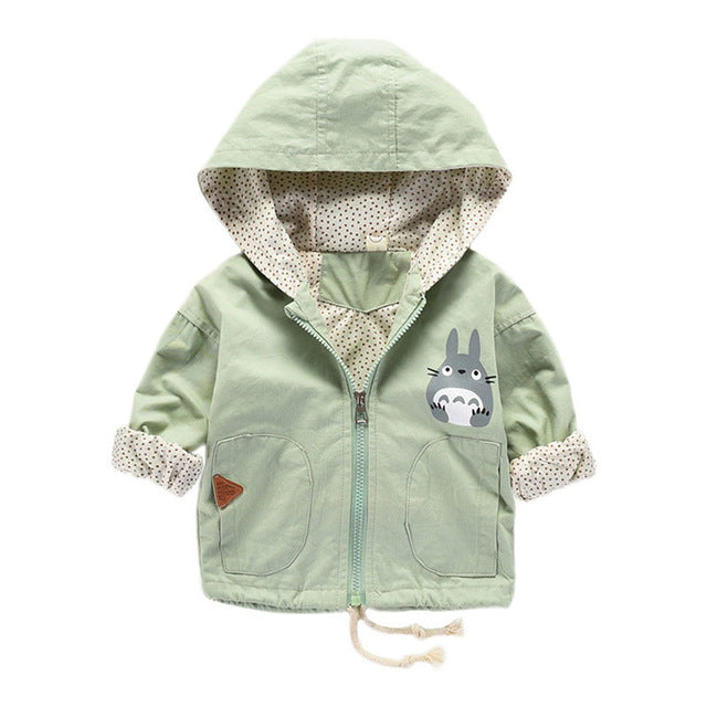 845dd3a61 Newborn Baby Girl Spring Cotton Coats infant Outerwear Hooded ...