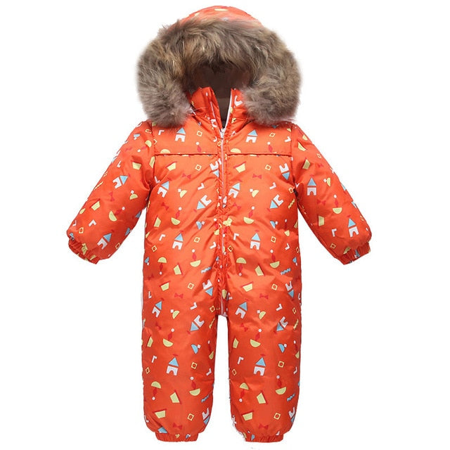 4138b4d8c new Baby snowsuit snow wear winter warm clothing fleece jumpsuit 90 ...