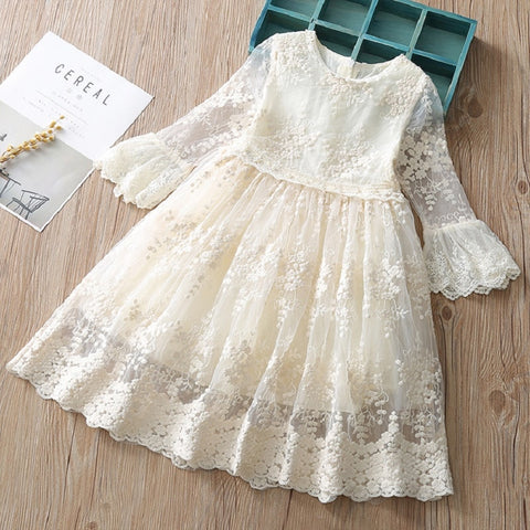 Summer dress for girls Children Girl Lace Princess Sundress Toddler Kids Baby Girls Lace Dress Party Prom Party Pageant Dresses