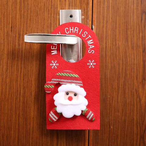Merry Christmas Door Hanging Pendant Ornament Christmas Decorations for Home Hotel Door Xmas Gift Natal Noel New Year Decoration