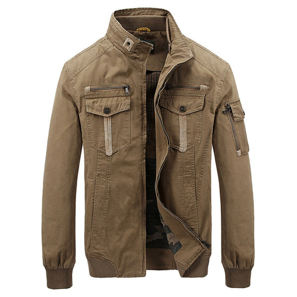 Military Mens Jackets Coats Stand Collar Men Autumn Winter Jacket Cotton Casual Bomber Jacket Jaqueta masculina