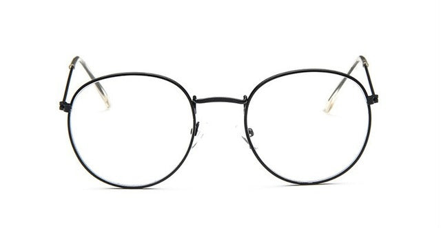 588d89837a9 ... Round Glasses Frame Woman Men Glasses Retro Myopia Optical Frames Metal Clear  lens Black Silver Gold ...