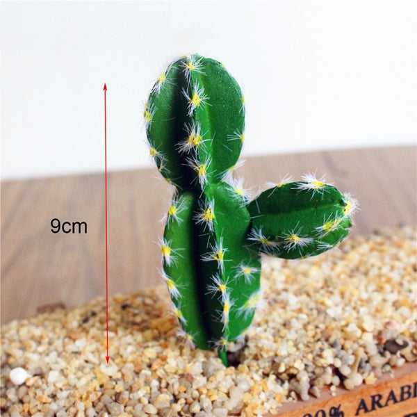 Cheap Artificial Cactus Plant for Garden Decor Fake Succulents Plants Miniature Bonsai Office Blumen for Wedding Party Home DIY