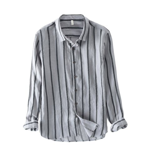 New Spring Autumn men Long Sleeve Work Shirts men office Tops Striped blouse for business